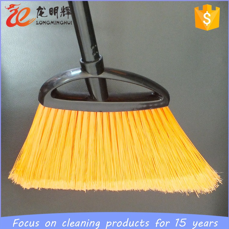 China manufacturer direct sale plastic sweep easy angle broom with flaggable bristle