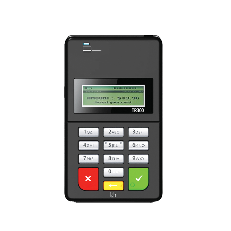 bluetooth emv swipe card reader with pin pad