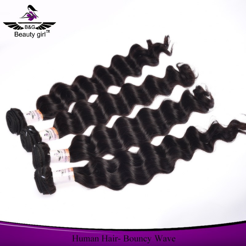Natural wave human hair extension 100 percent virgin indian remy hair for cheap
