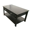 Black Vintage Modern Design Low Price Cheap Simple Wood Wooden Living Room Furniture Sofa Center Tea Coffee Table