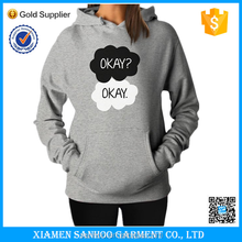 Embroidery Or Printing Custom Logo Fleece Hoody Women Printing Hoody & Sweat Shirt