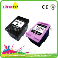 hot sale in Europe ink cartridge for hp 301xl black & color nail printer ink cartridge