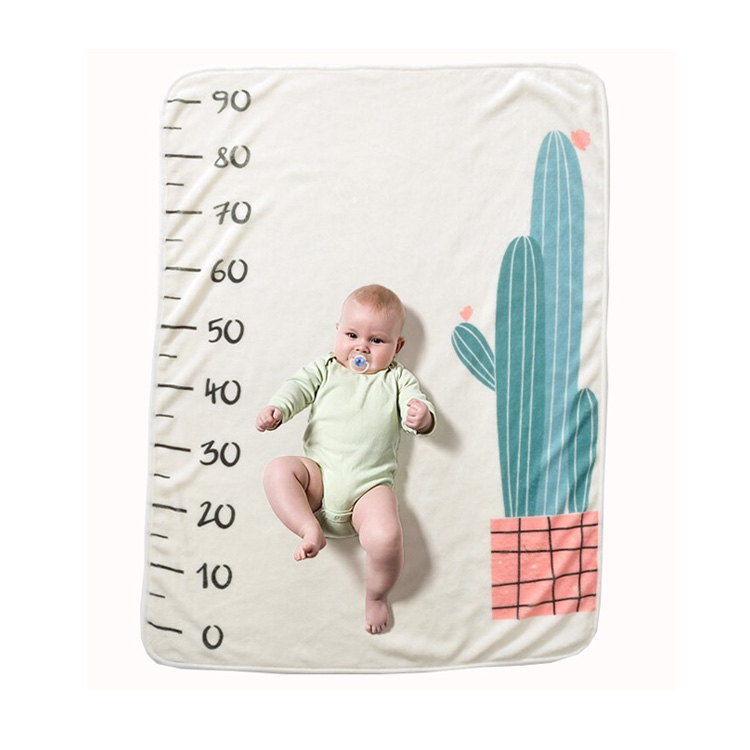 Digital printing milestone baby monthly blanket