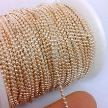 Wholesale Ball Chain In Different Color Plated Spool 1.5mm Colored Metal Ball Chain Unfinished Bulk For Necklace