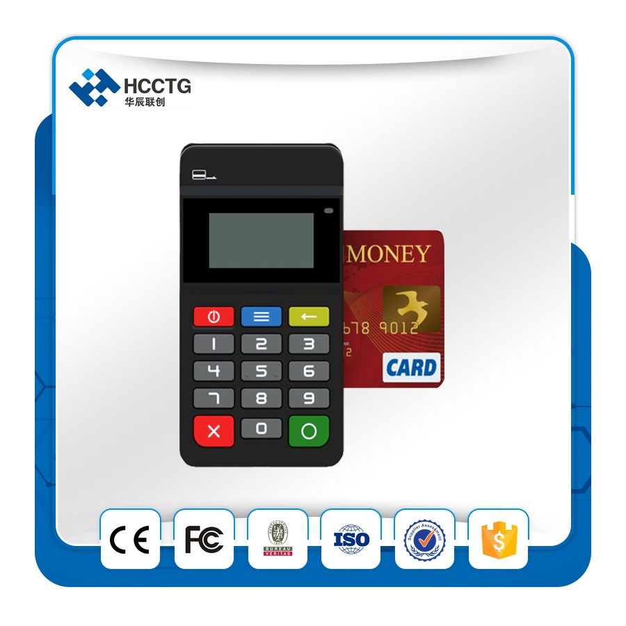 Bluetooth Card Reader Ios Mobile Point Of Sale Mpos Bill Payment Machine HTY711