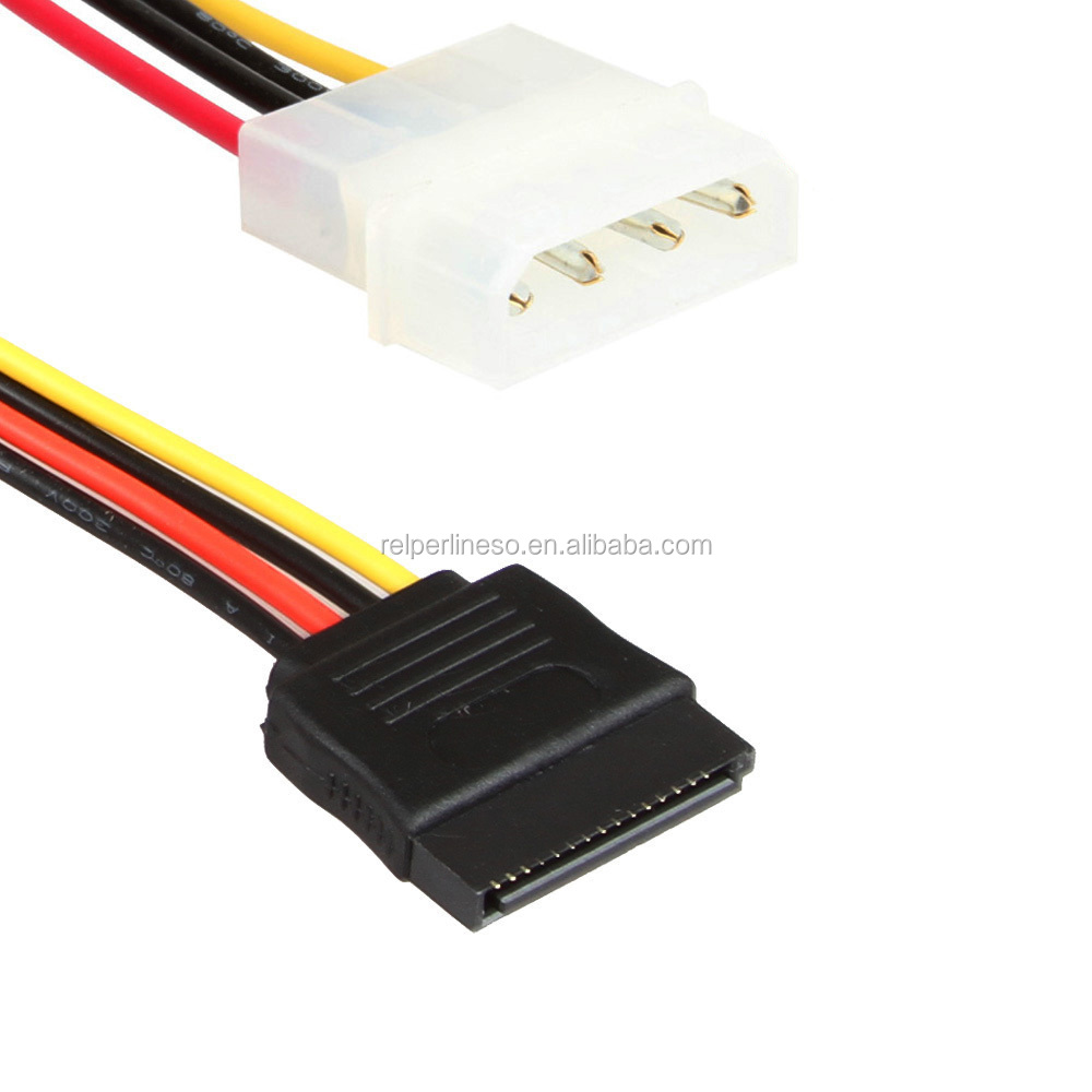 15P SATA to 4Pin Molex Power Cable,IDE To SATA 15P Power Cable