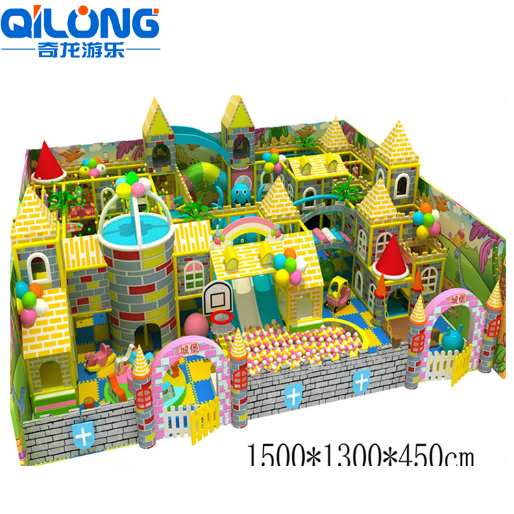Cheap playgrounds for kids,nice castle theme indoor playground equipment