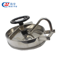 Sanitary tank oval elliptical open Inward stainless steel manhole cover
