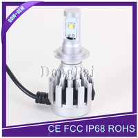 Car 3 COB LEDs Headlight all in one hid kit