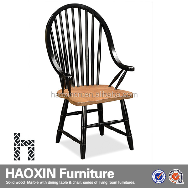 Malaysia fashion ergonomic dining chairs & hand carved teak wood furniture & high back chair