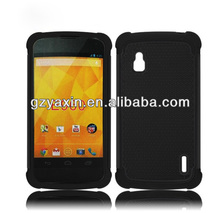 Case for lg google nexus 4 e960,Shockproof Combo Case For LG Nexus 4 E960