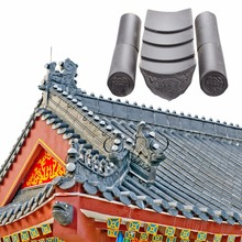 ML-001 black roofing tile, terracotta metal roof tile, clay roof tile price