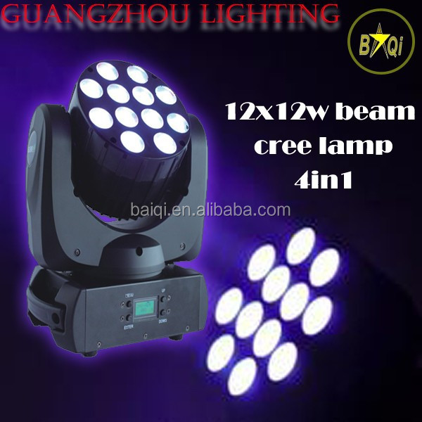 factory manufacture directly moving head lights for sale 16CH 4in1 12*12w rgbw beam mini led light