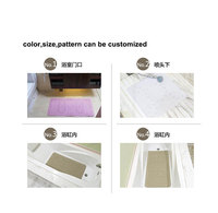 pvc foam soft washable anti slip bath mat, plastic bathtub cover