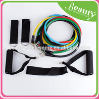 gymnastic resistance bands set ,ADE039HOT, yoga abs workout fitness