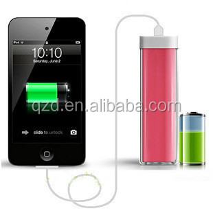 Best Selling Products Lipstick Power bank 2600mAh, oem product