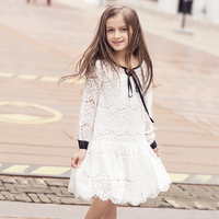 PHB11771 latest lace children dress kids girls ready made dresses