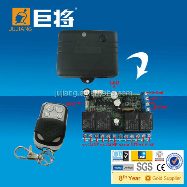 Rolling Code Receiver DC12V 1ch,2ch,3ch or 4ch optional With Transmitter JJ-JS-083