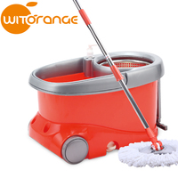 Witorange New design 2- drives 360 dry cleaning mop equipment with wheels as seen on TV 2016