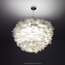 Feather chandelier/white feather pendant light