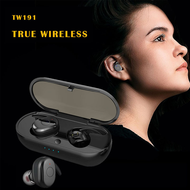 TWS earbuds 5.0 True Wireless Headphones with Charging Box Built-in Mic for ISO and Android 2019 OEM USD7.5