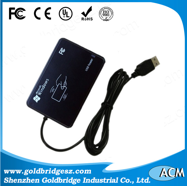 2016 cheap promotional 125khz and 13/56mhz Desktop Smart Card RFID USB Reader
