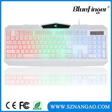 Professional Backlit LED Illuminated waterproof usb Wired Gaming keyboard