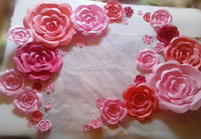 Foam Paper Flower Wedding Backdrop Decoration