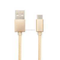 Colorful Braided Nylon Aluminum Quick Charging Micro USB Cable For Android USB Cable For Samsung