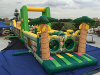 Hot sale inflatable obstacle courses/inflatble tunnel obstacle/inflatable bouncer obstacle