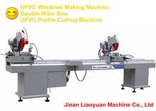 Double Miter Saw / Double Head PVC Profile Cutting Machine / Windows Machine / UPVC Window Door Making Machine