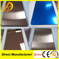 color mirror stainless steel sheet 304