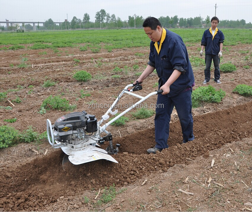6.5HP agriculture machines names electric mini tractor tilling cultivator agricultural digging machine