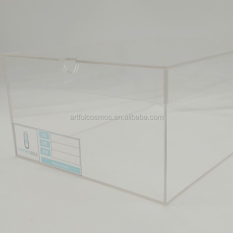 Perforated Display Box High Class Quality Acrylic Shoe Wall Display Box