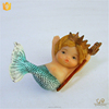 Wholesale Personalized Handmade Painted Resin Mermaid Figurine On Artificial Decoration Miniature Gift