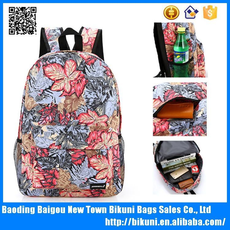 Printing canvas leisure backpack