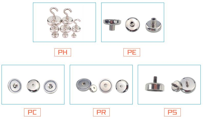 "D32mm/1.26"" Door magnet Custom-made Neodymium Disc Countersunk Hole Magnets with Screws"