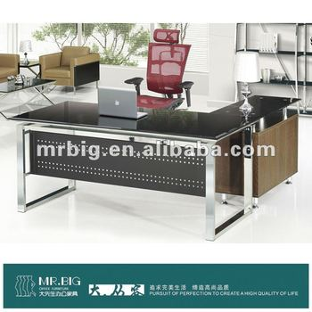 DB026 Tempered Glass Modern Furniture Office Desk