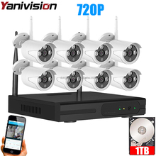 720P 8CH WIFI NVR Security recordable long range wireless cctv camera system