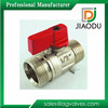 HIgh quality factory price trade price red handle double male*male cw617n 1/2 2 1 4 3 Inch mini brass ball valve