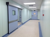 Automatic sliding hermetic hospital door