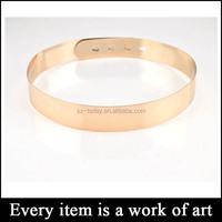 Hiqh quality golden color ladies belt chain, metal chain belt