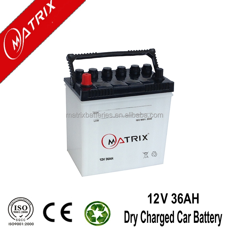 jis standard 12v 36ah 12volt dry cell automotive car battery