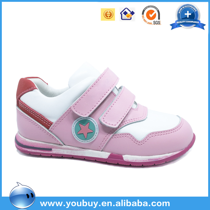 Genuine leather sport shoes / sneakers for children manufacturered in guangdong
