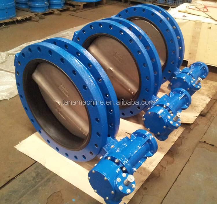 Cast iron Double flange centric rubber seal butterfly valve dn250 pn16