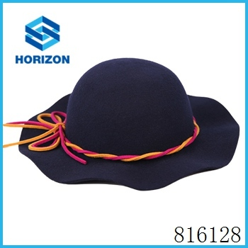 Star style popular wool floppy felt hat in round shap dome felt hat for ladies tour party cap hat