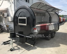 4*2M food catering trailers fast food car concession trailer