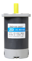 ZD MOTOR, dc motor, motor without gearbox,milling keyway type, 120w24v,3000rpm,2.2kg