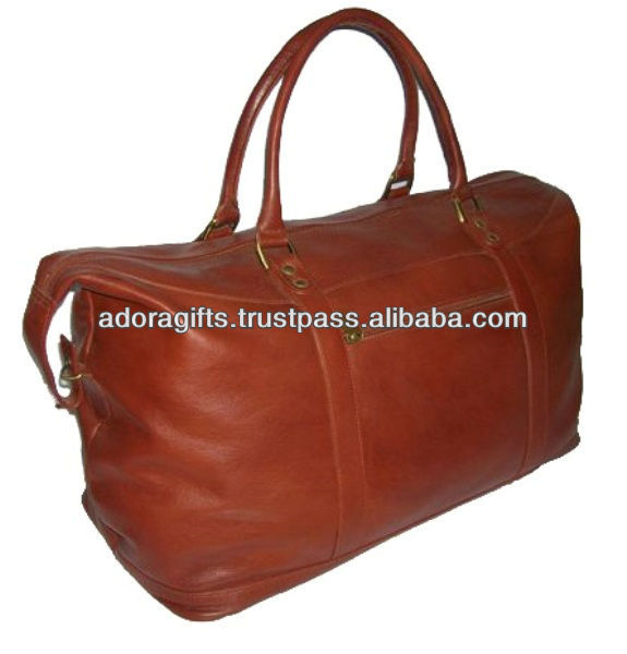 ADATB - 0003 Travel Bags/ Leather Travel Bag/ Duffle Bag