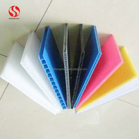 Colorful Twin Wall Polypropylene Sheet corrugated PP hollow plastic sheet